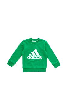 Adidas - Crewneck branded sweatshirt in green