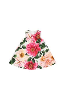 Dolce & Gabbana Jr - Camelie dress and culottes in multicolor