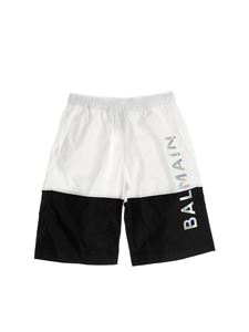 Balmain - Bermuda shorts swimsuit in black and white
