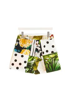 Dolce & Gabbana Jr - Patchwork shorts in multicolor