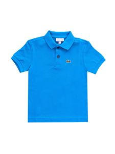 Lacoste - Logo patch polo shirt in blue