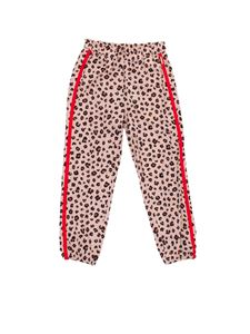 LIU JO Junior - Contrasting bands pants in animalier
