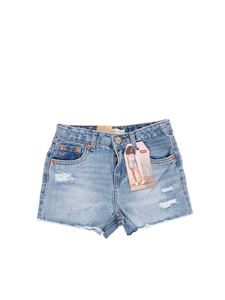 Levi's - Ripped denim shorts in blue