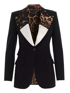 Dolce & Gabbana - Patchwork lapels jacket in black