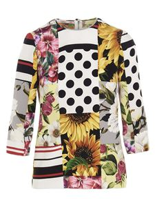 Dolce & Gabbana - Patchwork blouse in multicolor