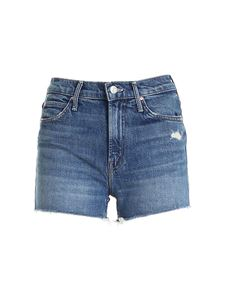 Mother - The Dutchie Fray shorts in blue