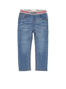 Levi's - Branded elastic jeans in blue