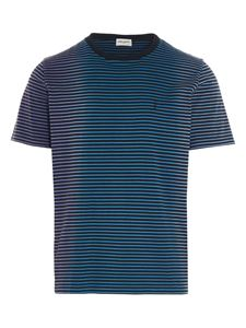 Saint Laurent - T-shirt Monogram multicolor a righe