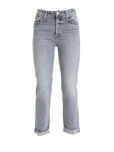 Mother - The Scrupper Cuff Ankle Fray jeans in grey