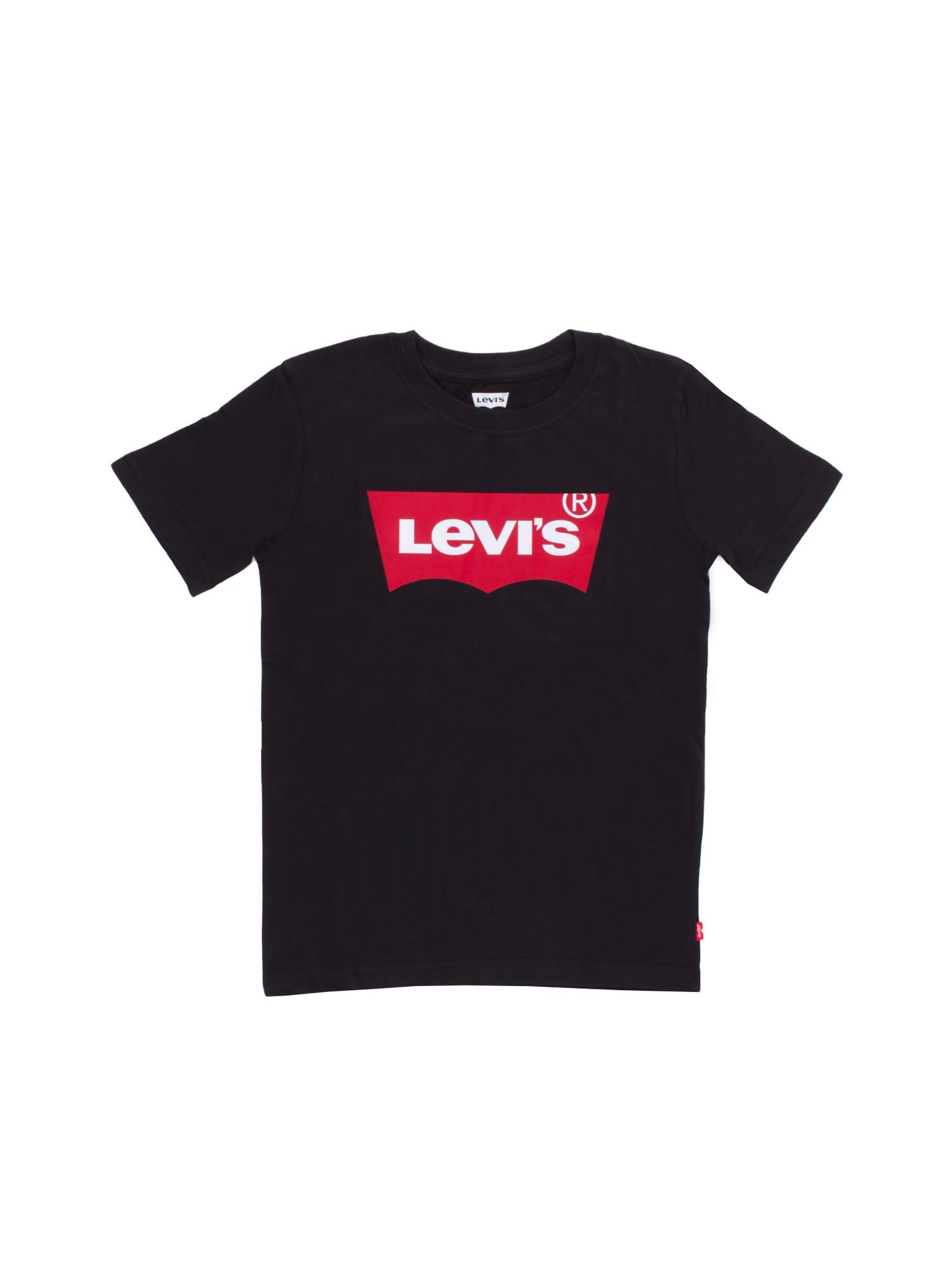 Levi's Cottons LEVI'S BRANDED T-SHIRT IN BLACK