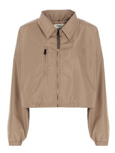 Fendi - Cropped fit jacket in beige