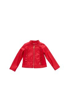 LIU JO Junior - Rouches jacket in red