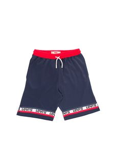 Levi's - Branded bermuda shorts in blue and red