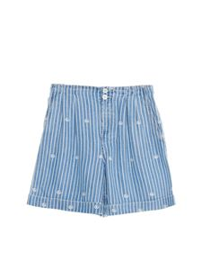 Gucci - Striped shorts in white and blue