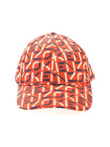 Kenzo - Cappello da baseball rosso con logo all-over