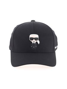 Karl Lagerfeld - Cappello nero con patch logo