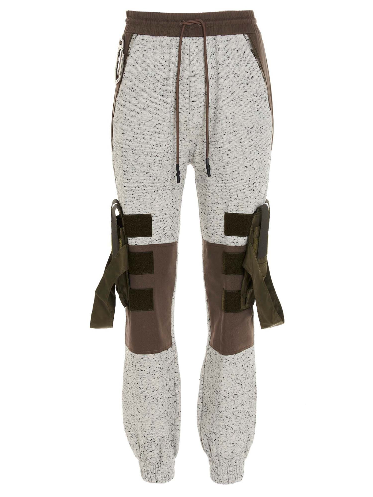 Mcq By Alexander Mcqueen Cottons COLOR BLOCK SWEATPANTS IN GRAY