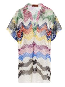 Missoni - Copricostume chevron multicolor