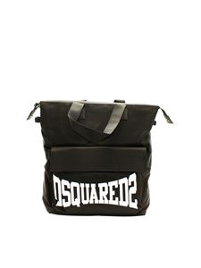 Dsquared2 - Contrasting logo backpack in black