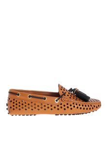 Tod's - Drilled loafers in brown