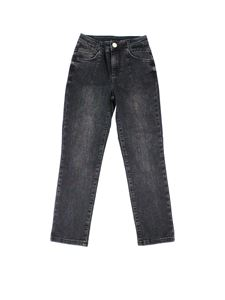 LIU JO Junior - Rhinestones jeans in black