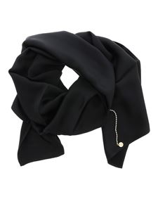 Liujo - Scarf with charm in black