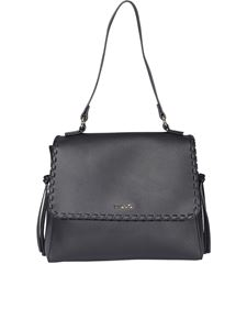 Liujo - Embroidered faux leather bag in black