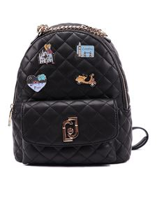 Liujo - Safety pin faux leather backpack in black