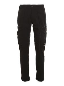 CP Company - Stretch nylon cargo pants in black
