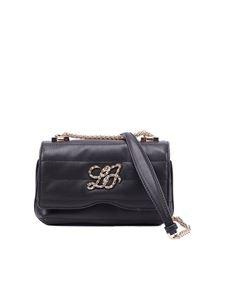 Liujo - Quilted faux leather crossbody bag in black