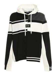 Dolce & Gabbana - Hooded jumper in black and white