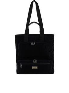 Dolce & Gabbana - Nylon shopping bag in black