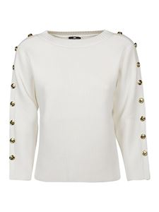Elisabetta Franchi - Buttoned sweater in white