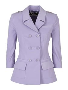 Elisabetta Franchi - Double breasted blazer in purple