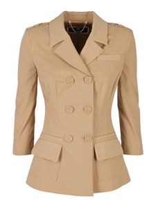 Elisabetta Franchi - Double breasted blazer in beige