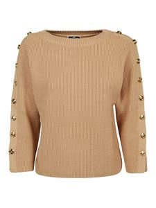 Elisabetta Franchi - Buttoned sweater in camel color