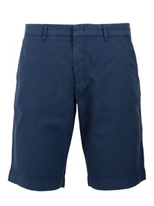 Fay - Stretch cotton bermuda shorts in blue