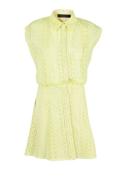 Federica Tosi - Lace shirt dress in green