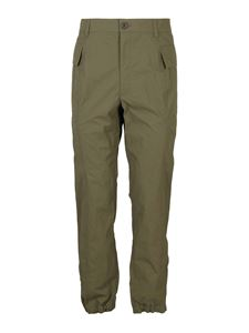 Helmut Lang - Technical fabric cargo pants in green