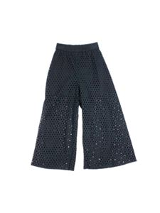 Monnalisa - Perforated pants in black