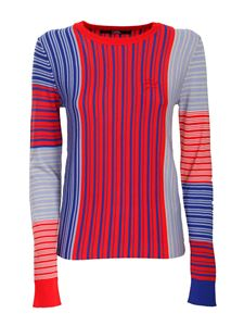Karl Lagerfeld - Colorblock sweater in red and blue