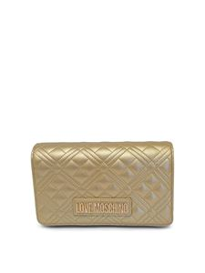 Love Moschino - Faux leather clutch in gold color