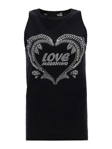 Love Moschino - Embellished tank top in black