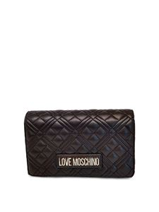 Love Moschino - Faux leather clutch in black