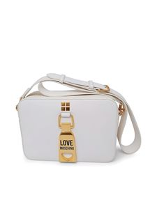Love Moschino - Faux leather shoulder bag in white