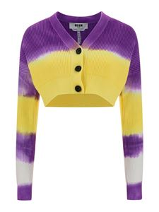 MSGM - Ribbed cardigan in purple