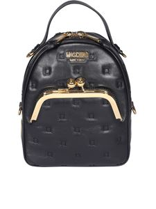 Moschino - Matelassé leather backpack in black
