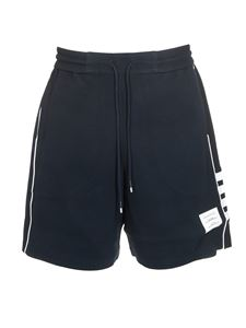 Thom Browne - 4 Bar track shorts in blue