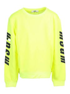 MSGM - Printed sweatshirt in yellow