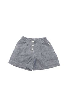 Il Gufo - Three buttons shorts in melange blue